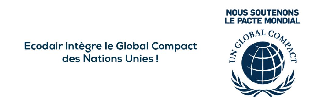 Ecodair intègre le Global Compact des Nations Unies